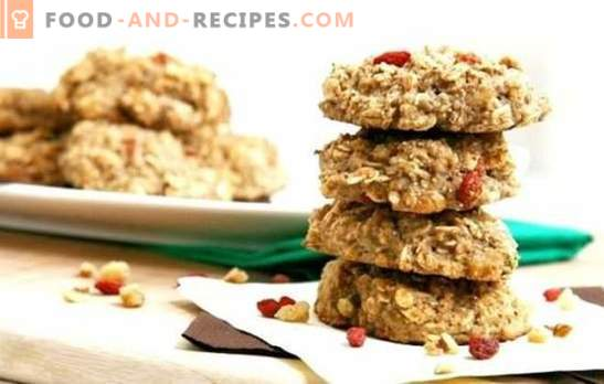 Dietary oatmeal cookies - baking can be useful! Recipes dietary oatmeal cookies with cottage cheese, apples, raisins