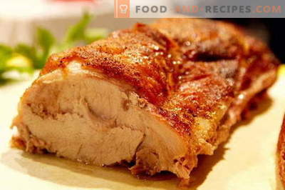 Pork baked in the oven - the best recipes. How to properly and tasty cook pork in the oven.