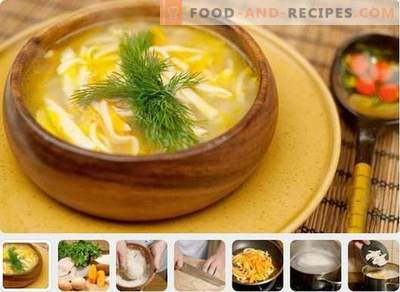 Chicken soup - the best recipes. How to cook chicken soup.