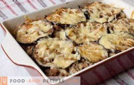 Casserole of minced meat and eggplant in the oven - a wonderful dinner! Recipes of different casseroles of minced meat and eggplant in the oven