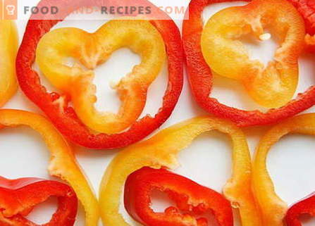Pepper salads are the best recipes. How to properly and tasty cook salads from pepper.