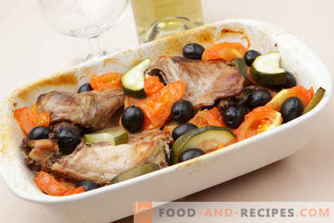 Rabbit baked in the oven - the best recipes. How to cook a rabbit in the oven.