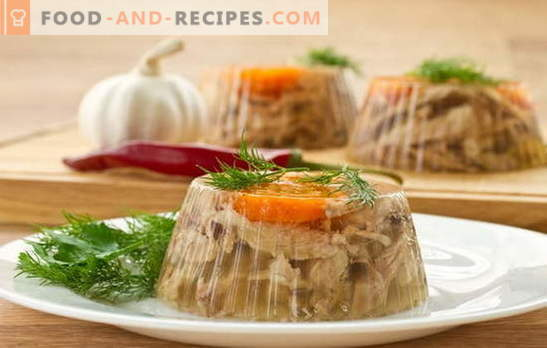 Will it make delicious jelly with gelatin? Unique and simple recipes of aspic with gelatin: beef, vegetable, chicken