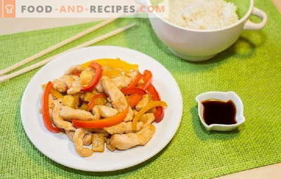 Chicken breast peppers - diet and everyday meals. A variety of dishes from chicken breasts with pepper for every taste
