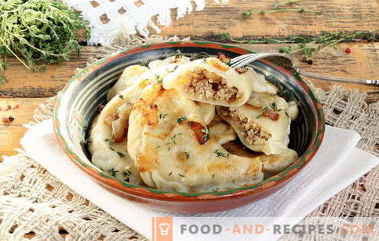 Dumplings with meat is not dumplings! Recipes homemade dumplings with meat and various additions