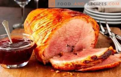 Baked ham in the oven in foil: step-by-step recipes for meat delicacy. Baked pork recipes in foil with step-by-step description