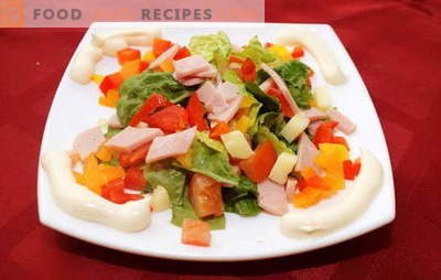 How to make a salad with bell pepper and ham. Unusual recipes for a tasty salad with ham and bell pepper
