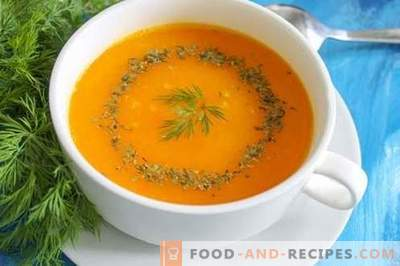 Pumpkin puree soup - a bright mood at any time of the year. Step-by-step recipe with a photo: pumpkin soup, different options