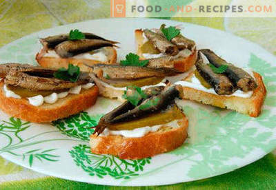 Sprat sandwiches are the best recipes. How to quickly and tasty cook sandwiches with sprats.