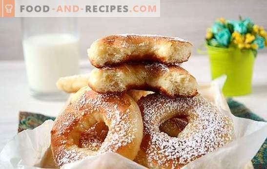 Yeast donuts with milk: we will make our pets happy! Step by