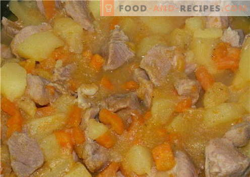 Potatoes with meat - the best recipes. How to properly and tasty cook potatoes with meat.