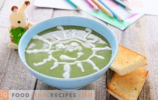 Soup-puree for children - dishes from the space menu! A selection of different soups for children with cereals, vegetables, meat