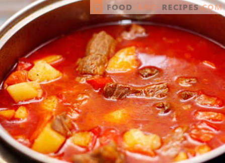 Pork goulash - the best recipes. How to properly and tasty cook pork goulash.