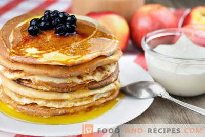 Fritters on milk - the best recipes. How to properly and tasty cook pancakes in milk.