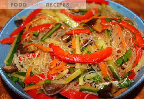 Funchoza with vegetables - the best recipes. How to properly and tasty cook funchoza with vegetables at home.