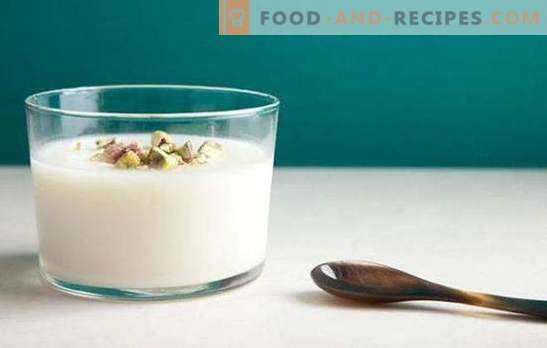 Traditional milk jelly - recipes from simple to exquisite. Cooking and serving milk jelly quickly and deliciously delicious