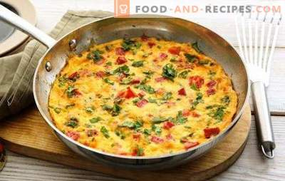 Omelet with ham - a hearty, tasty breakfast in a hurry. The best recipes for omelet with ham, cheese, vegetables, spices