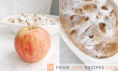 Apple soufflé - the best recipes. How to quickly and tasty cook apple souffle.