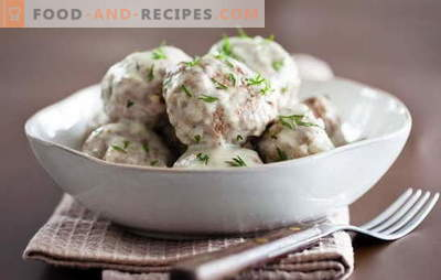 For lovers of meatballs in a creamy sauce: new recipes. How to cook meatballs in a creamy sauce quickly and tasty