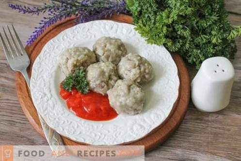 Hedgehog steam meatballs - a meat dish for both children and adults!