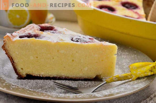 Cottage Cheese Casserole with Frozen Cherries