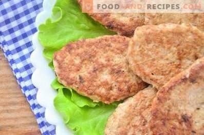 Chicken fillet cutlets