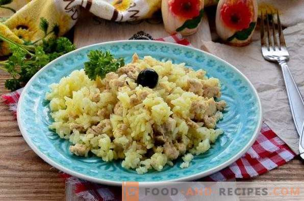Risotto with minced meat