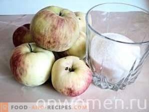 Apple jam for the winter