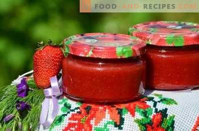 Strawberry jam for the winter