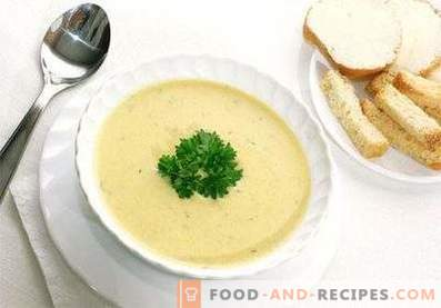 Mashed potato soup with cheese