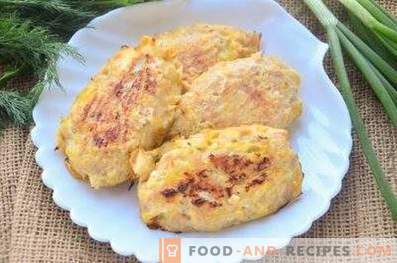 Chicken cutlets with cabbage in the oven
