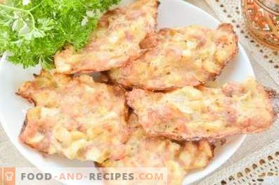 Chopped chicken patties in the oven
