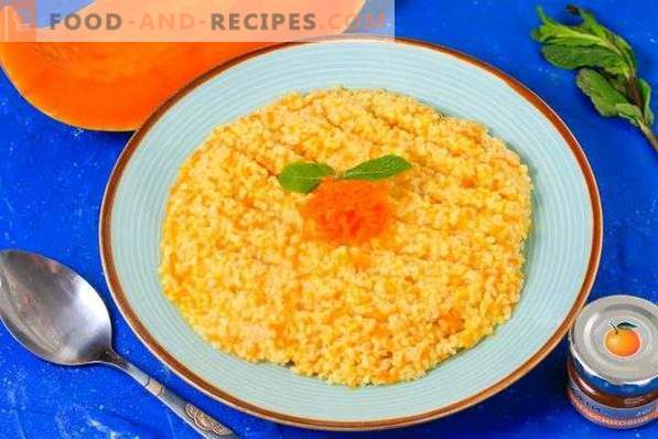 Millet porridge with pumpkin on the water in the slow cooker