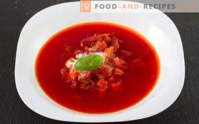 Borsch without potatoes