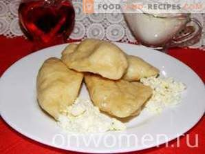 Dumplings with cottage cheese on kefir