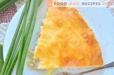 Pie with potatoes and chicken in the oven