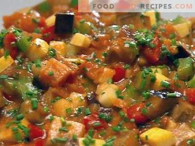 Vegetable stew in a slow cooker