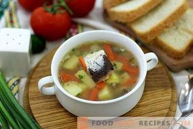Canned fish soup