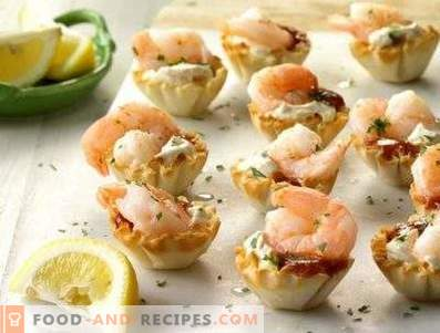 Tartlets with shrimps