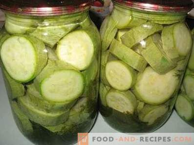 Salted zucchini for the winter