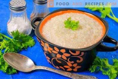 Barley porridge on water in a multicooker