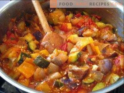 Eggplant stewed with vegetables
