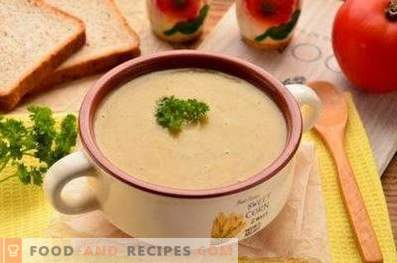Dried mushroom cream soup
