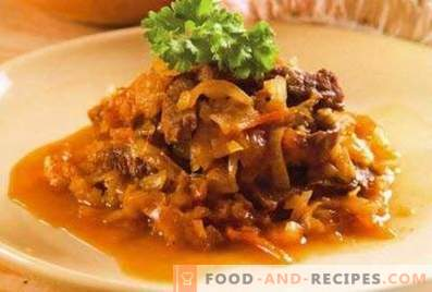 Pork stewed with cabbage