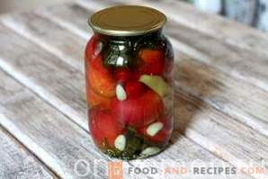 Pickled tomatoes with apple cider vinegar