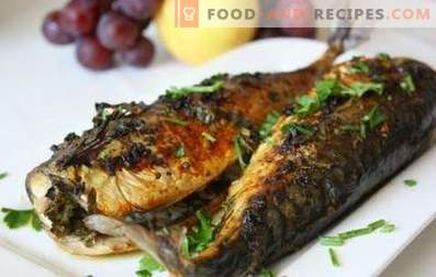 Mackerel baked in a slow cooker