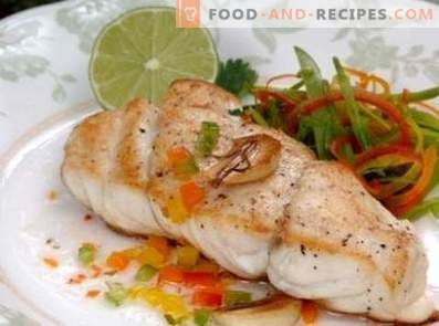 Cod baked in a multicooker