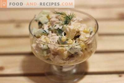Chicken, Cheese and Corn Salad