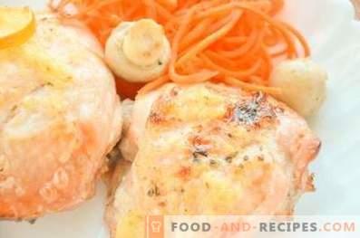 Chicken thighs in ginger-honey marinade
