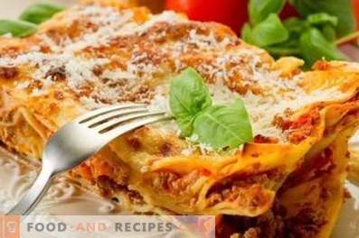 Pita Lasagna with minced meat